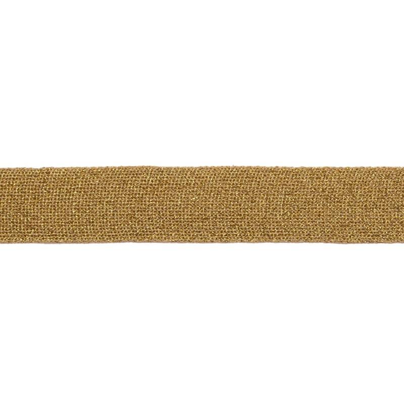 Тесьма люрекс 2,5см 88-90м/рулон, цв:золото яркое