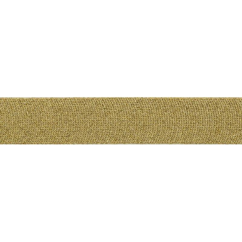 Тесьма люрекс 3 см 43-45м/рулон, цв:бежевый/люрекс золото