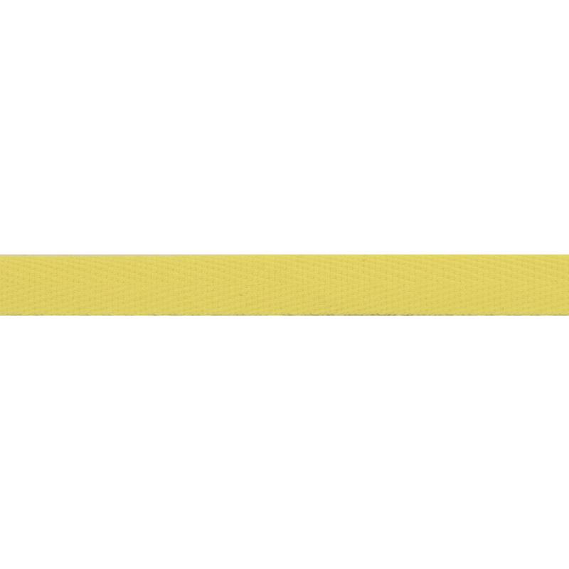 Тесьма киперная хлопок 1см 68-70м/рулон,цв:светло-желтый