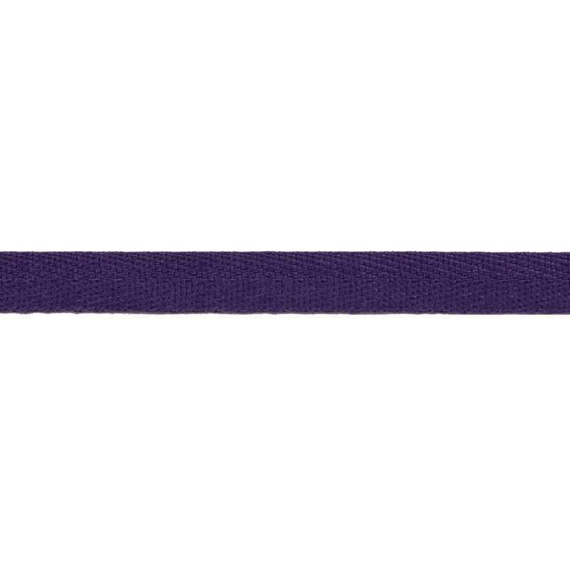 Тесьма киперная хлопок 1см 68-70м/рулон,цв: фиолетовый