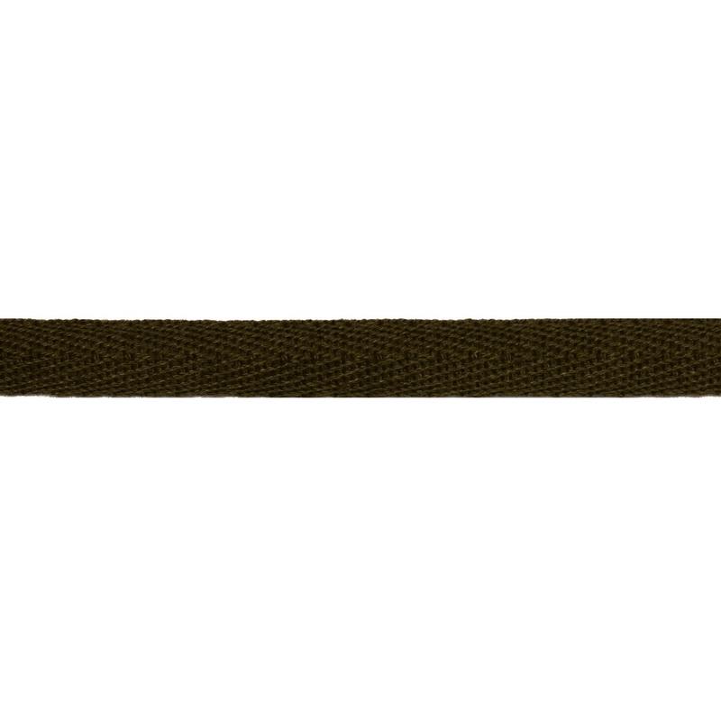 Тесьма киперная хлопок 1см 68-70м/рулон,цв:хаки
