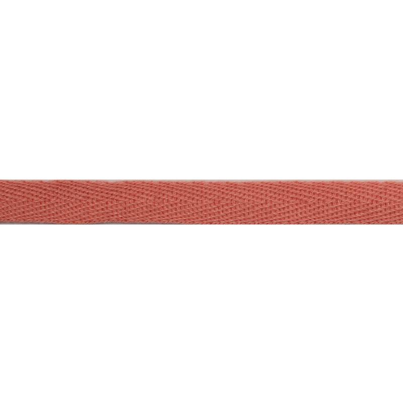 Тесьма киперная хлопок 1см 68-70м/рулон,цв: оранжево-розовый