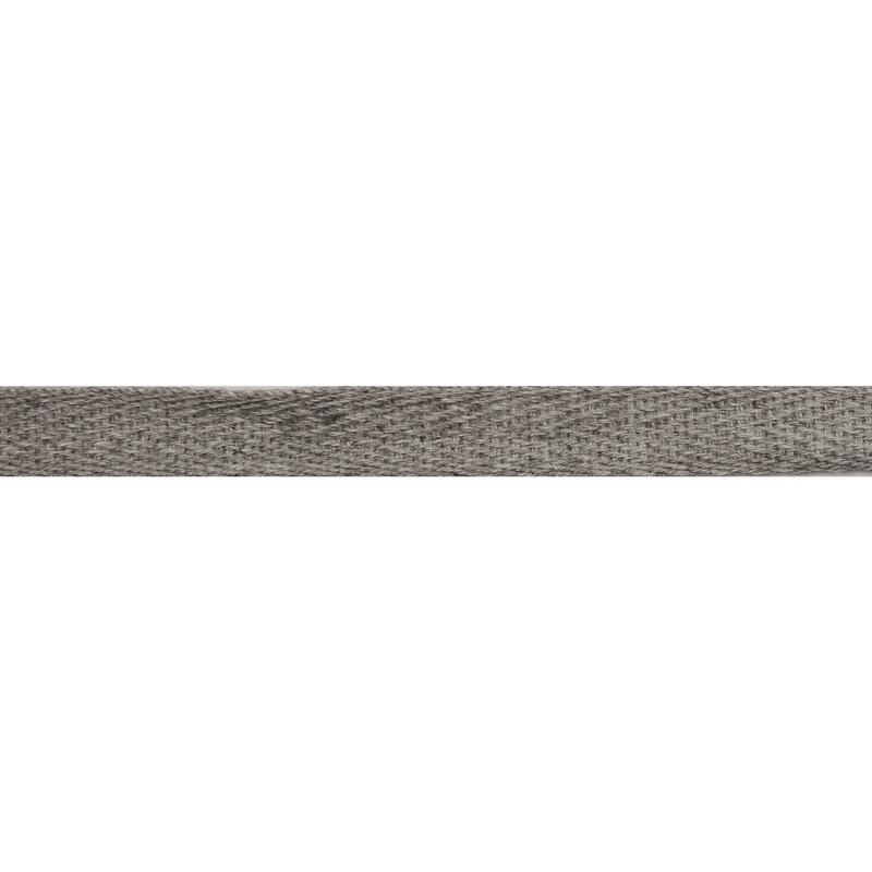 Тесьма киперная хлопок 1см 68-70м/рулон,цв:св серый меланж