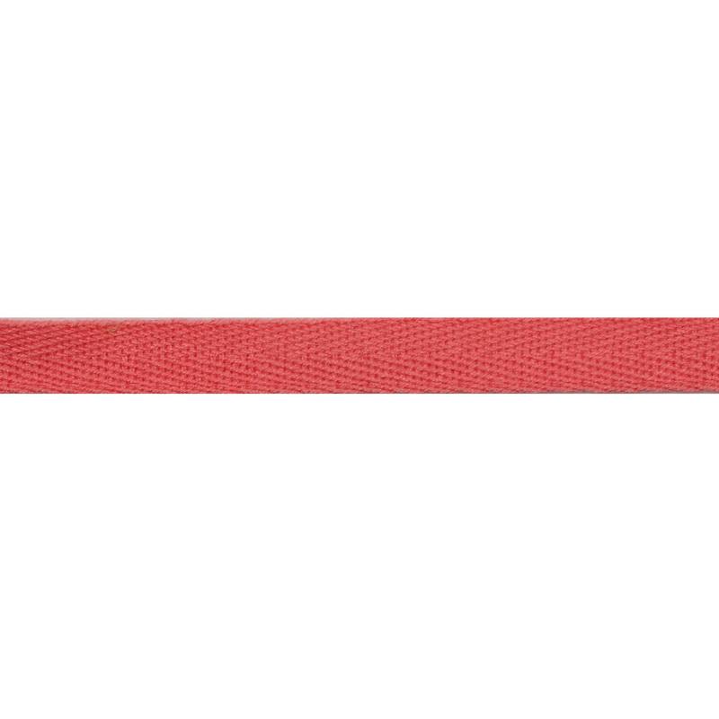 Тесьма киперная хлопок 1см 68-70м/рулон,цв:лососево-розовый