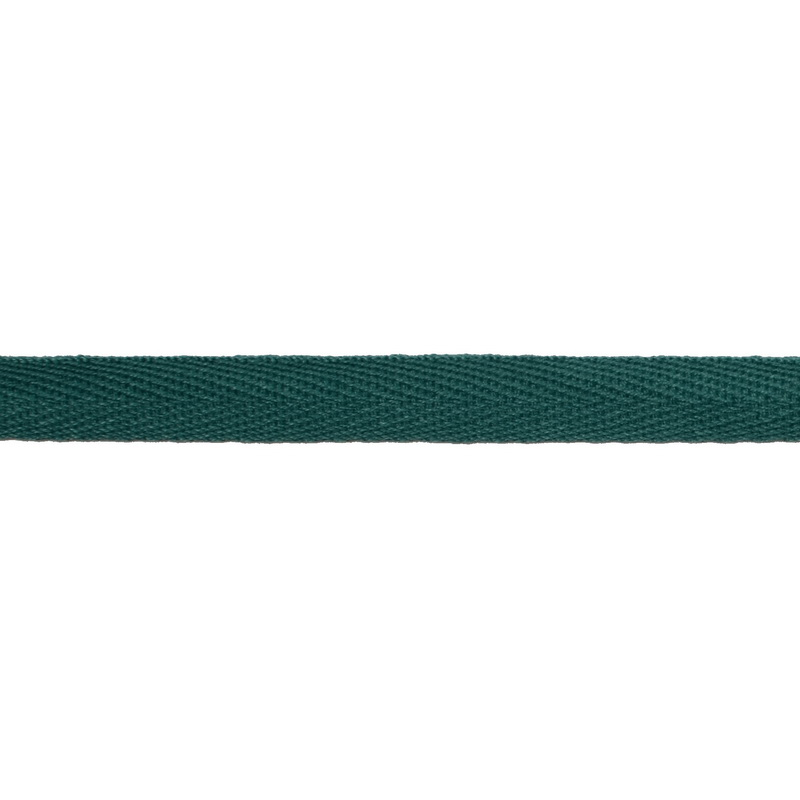 Тесьма киперная хлопок 1см 68-70м/рулон,цв:т.бирюзовый