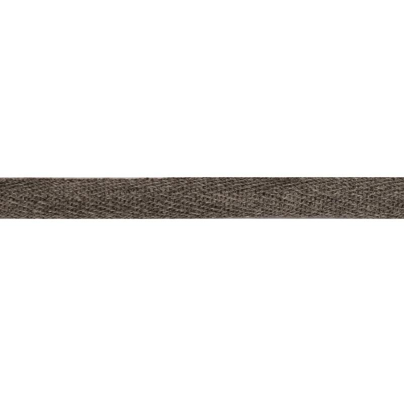 Тесьма киперная хлопок 1см 68-70м/рулон,цв:дымчатый меланж