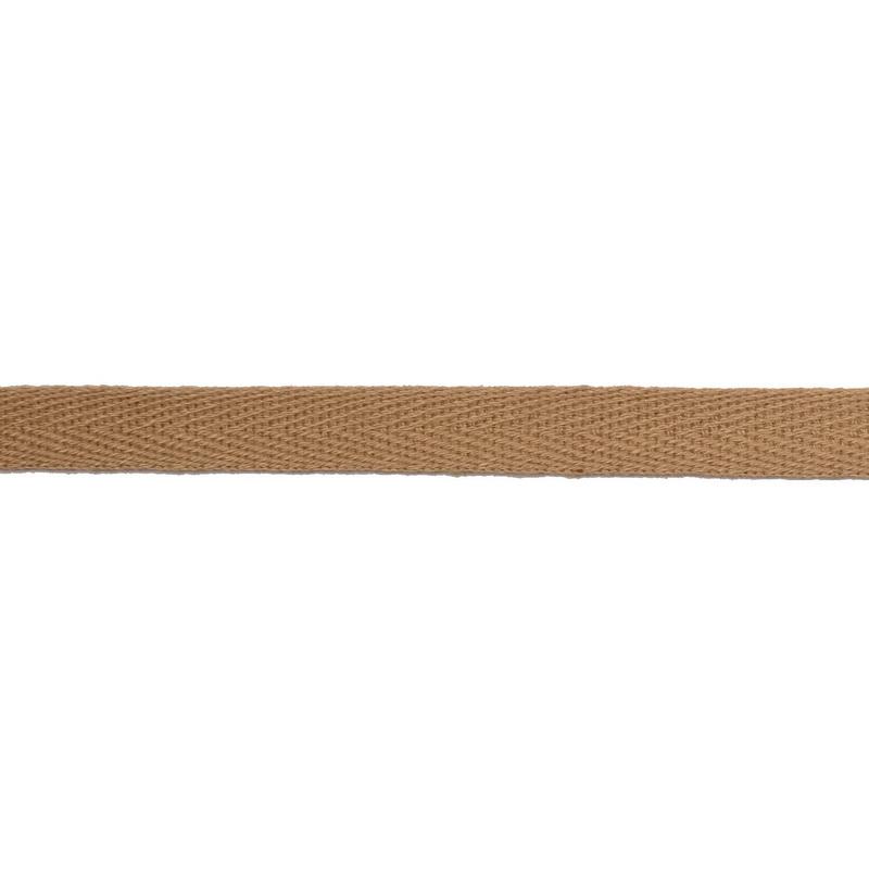 Тесьма киперная хлопок 1см 68-70м/рулон,цв: латте