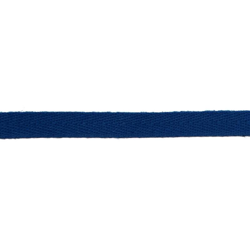 Тесьма киперная хлопок 1см 68-70м/рулон,цв:морской волны