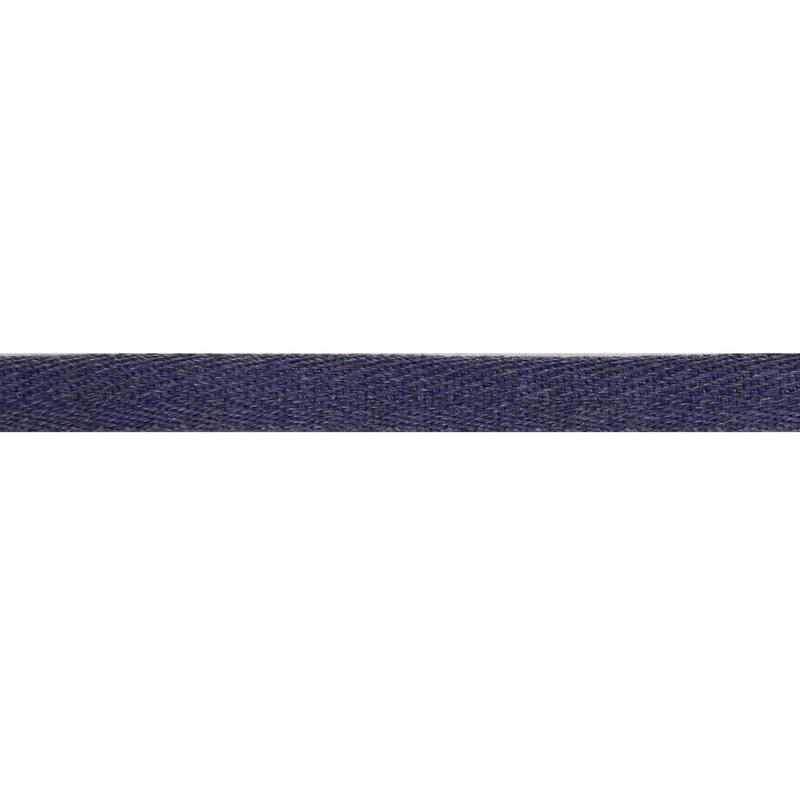 Тесьма киперная хлопок 1см 68-70м/рулон,цв:деним
