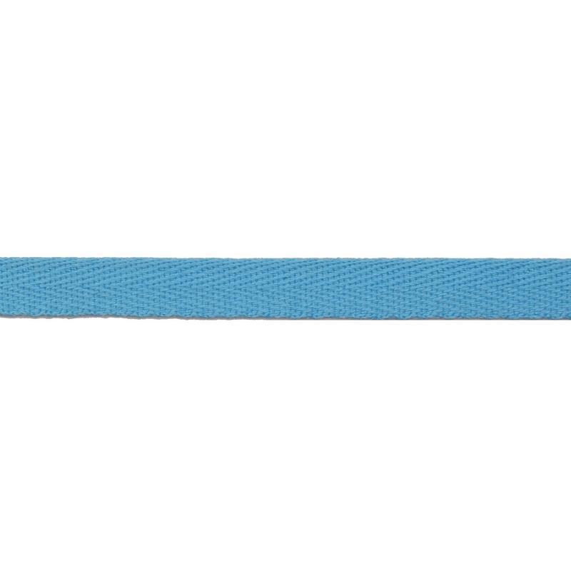Тесьма киперная хлопок 1см 68-70м/рулон,цв:голубой