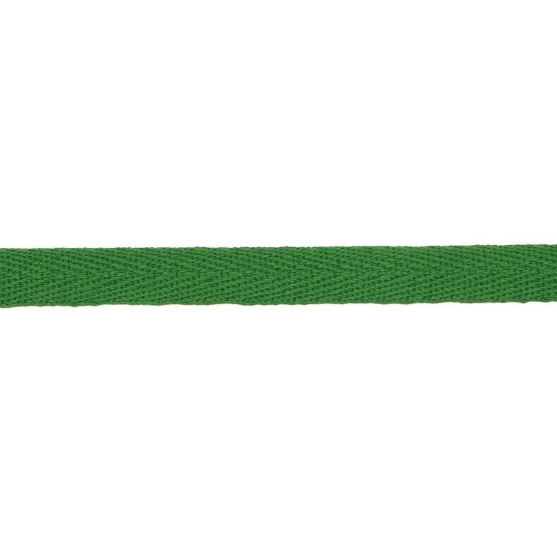 Тесьма киперная хлопок 1см 68-70м/рулон,цв:свежей зелени