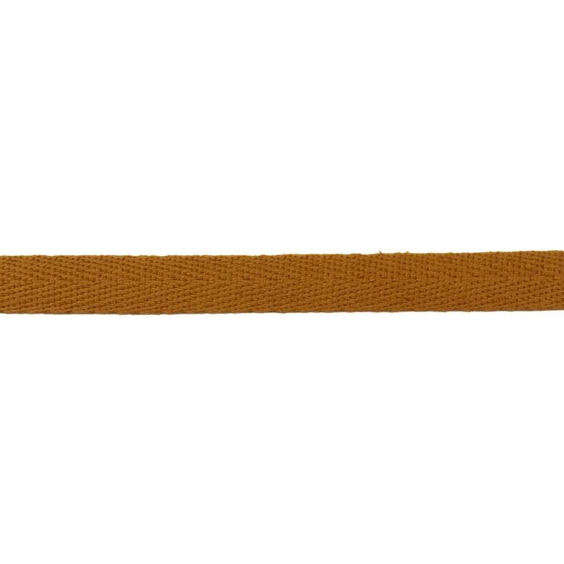 Тесьма киперная хлопок 1см 68-70м/рулон,цв:охра
