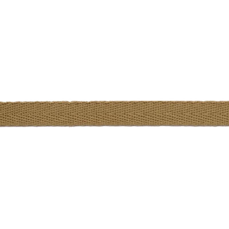 Тесьма киперная хлопок 1см 68-70м/рулон,цв:холодный бежевый