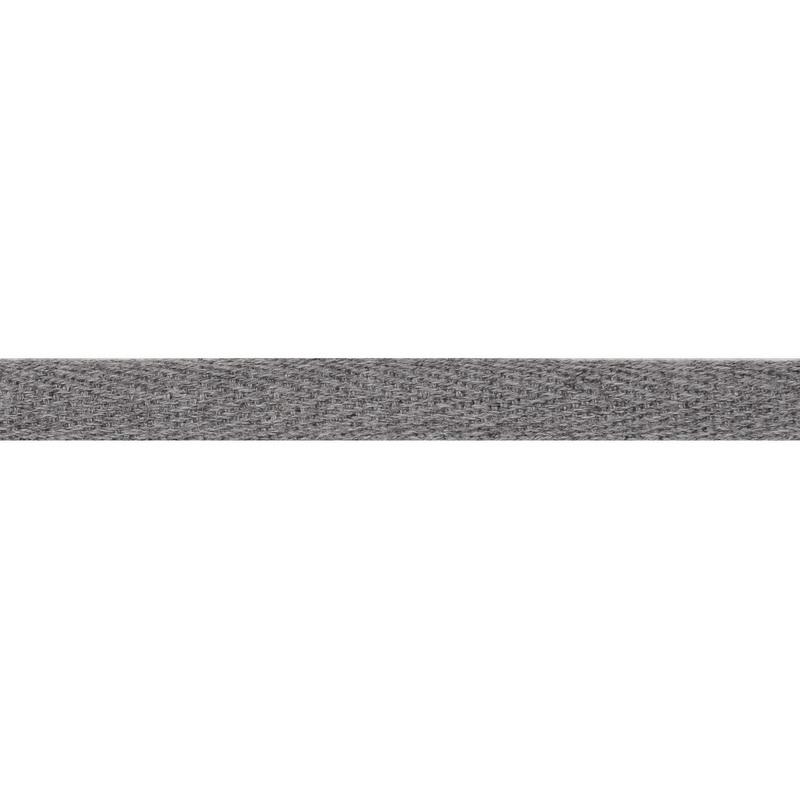 Тесьма киперная хлопок 1см 68-70м/рулон,цв:серо-голубой меланж