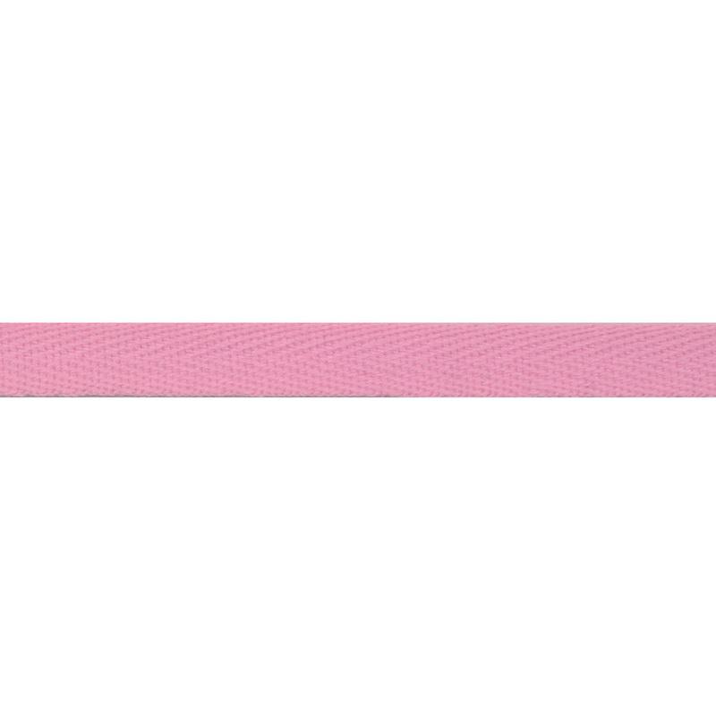 Тесьма киперная хлопок 1см 68-70м/рулон,цв:детский розовый