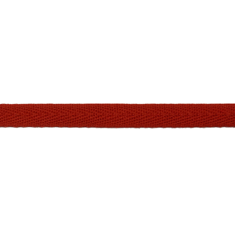 Тесьма киперная хлопок 1см 68-70м/рулон,цв:терракот