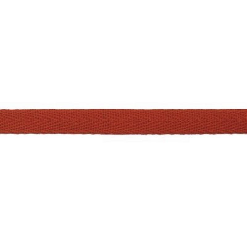 Тесьма киперная хлопок 1см 68-70м/рулон, цв:кирпичный