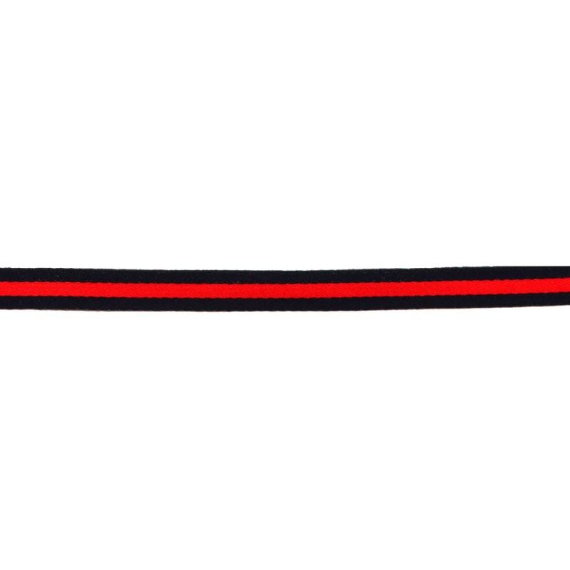 Тесьма сатин 2см, 45м/рул, цв: т.синий/красный