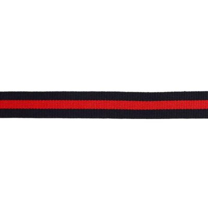 Тесьма репс 15мм, 45м/рул, цв: тёмно-синий/красный