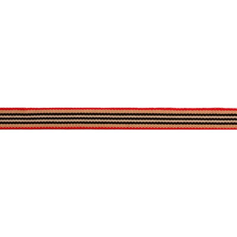 Тесьма репс 1см, 45м/рул, цв: бежевый