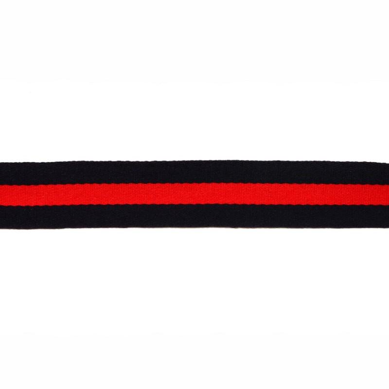 Тесьма сутаж 2,5см, 45м/рул, цв: т.синий/красный