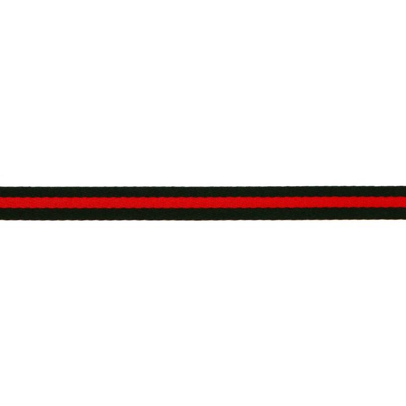 Тесьма сутаж 1,5см, 45м/рул, цв: т.зеленый/красный