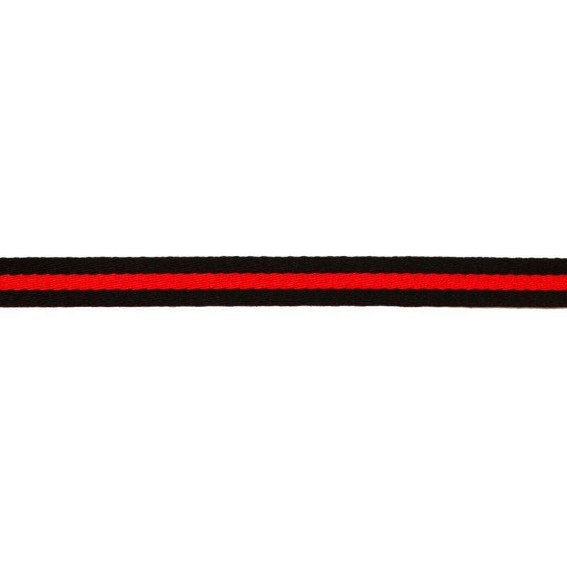 Тесьма сутаж 1,5см, 45м/рул, цв: черный/красный