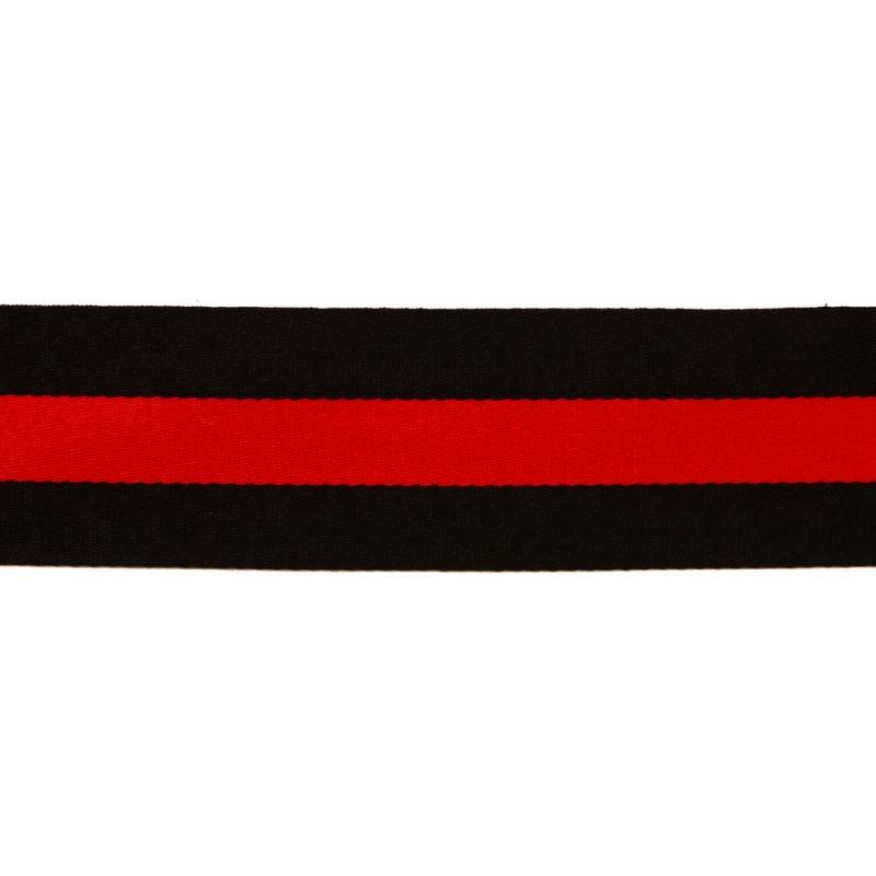 Тесьма сутаж 3см, 45м/рул, цв: черный/красный
