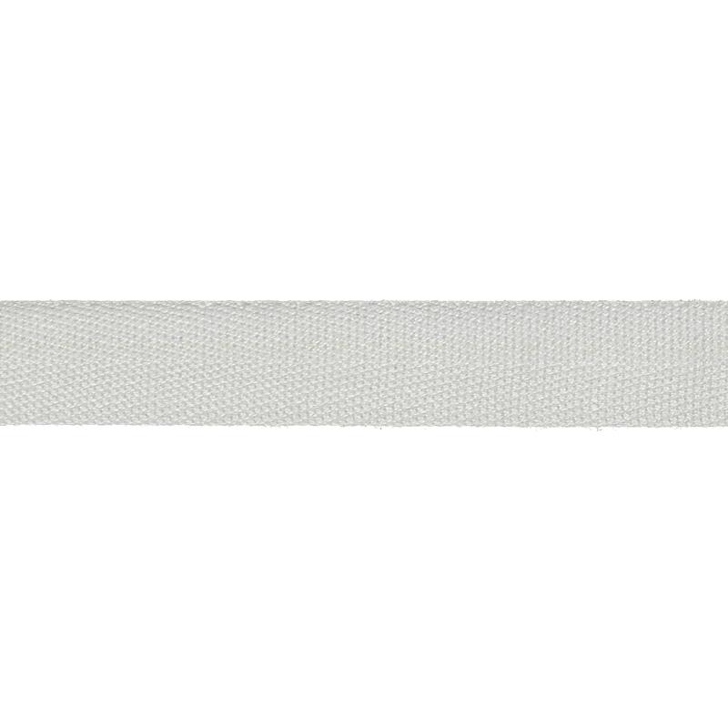 Тесьма киперная хлопок 1,3-1,5см 45м/рулон, цв:белоснежный
