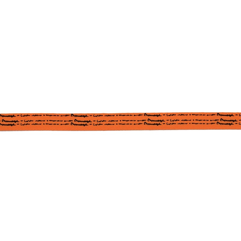 Тесьма киперная полиэстер/принт 1см 43-45м/рулон, цв:оранжевый/принт