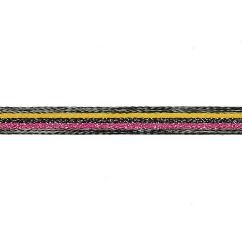 Тесьма сутаж/люрекс 1см 43-45м/рулон, цв:мультиколор 3
