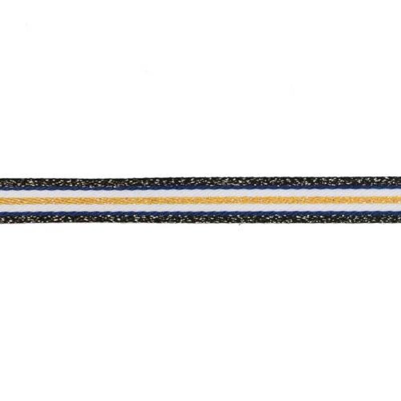 Тесьма сутаж/люрекс 1см 43-45м/рулон, цв:мультиколор 9