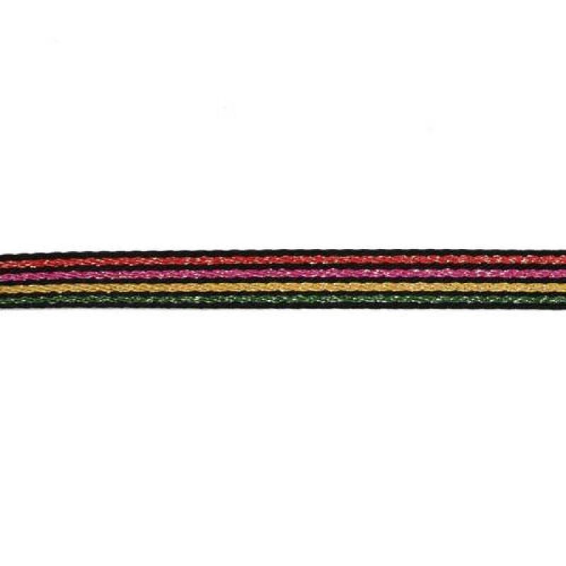 Тесьма сутаж/люрекс 1см 43-45м/рулон, цв:мультиколор 17