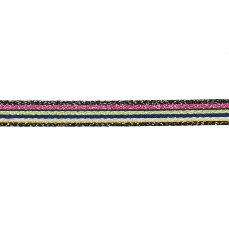 Тесьма сутаж/люрекс 1см 43-45м/рулон, цв:мультиколор 19