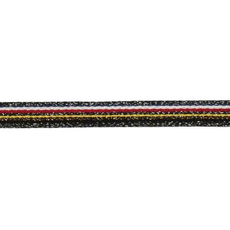 Тесьма сутаж/люрекс 1см 43-45м/рулон, цв:мультиколор 22