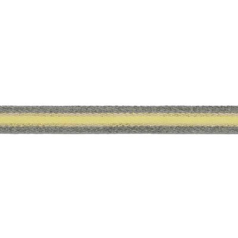 Тесьма сутаж/люрекс 1см 43-45м/рулон, цв:св.серый/желтый/бежевый