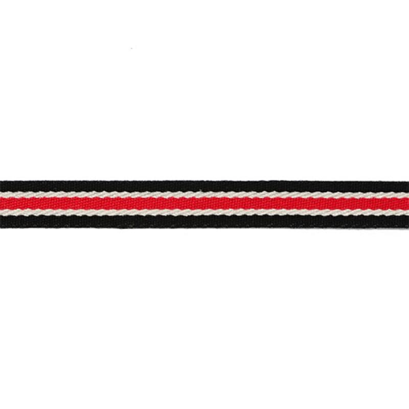 Тесьма сутаж 1см, 45м/рул, цв: черный