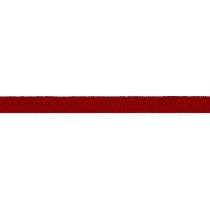 Тесьма киперная хлопок 1см 68-70м/рулон,цв:красный