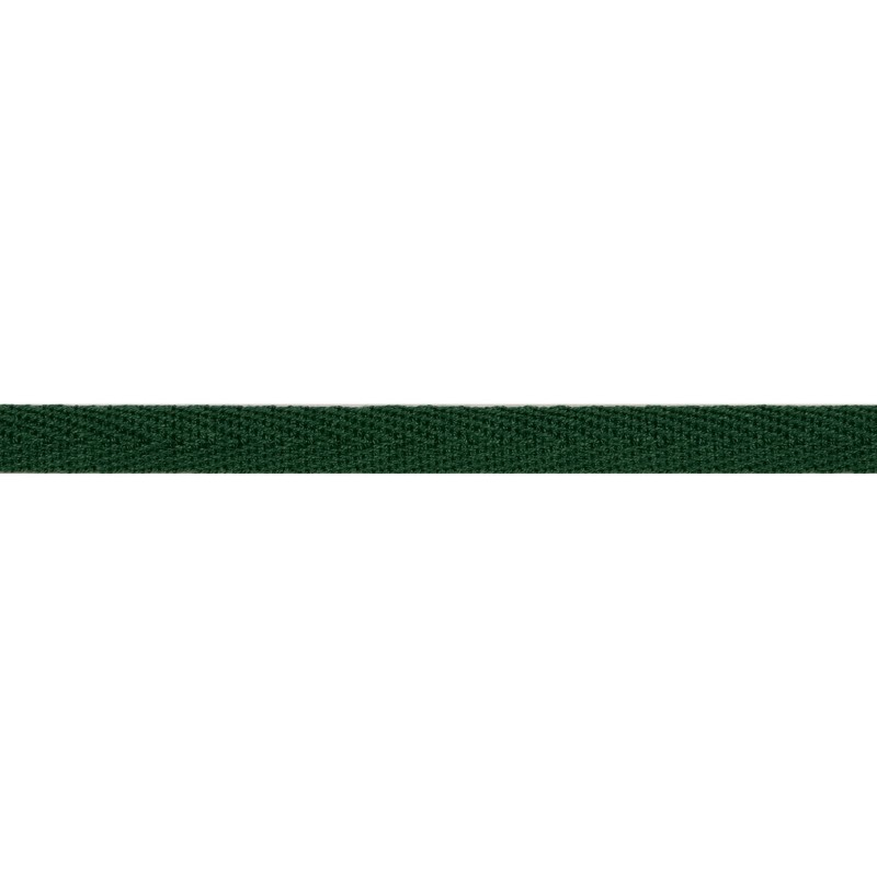 Тесьма киперная хлопок 1см 68-70м/рулон,цв:изумруд