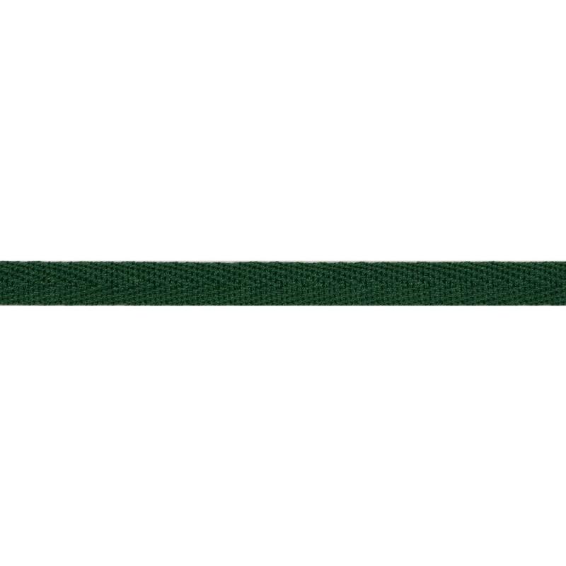 Тесьма киперная хлопок 1см 68-70м/рулон,цв:т.зеленый