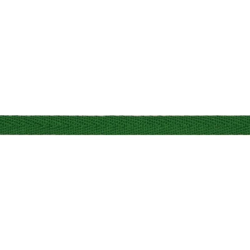 Тесьма киперная хлопок 1см 68-70м/рулон,цв:зеленый