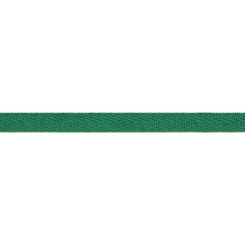 Тесьма киперная хлопок 1см 68-70м/рулон,цв:малахит
