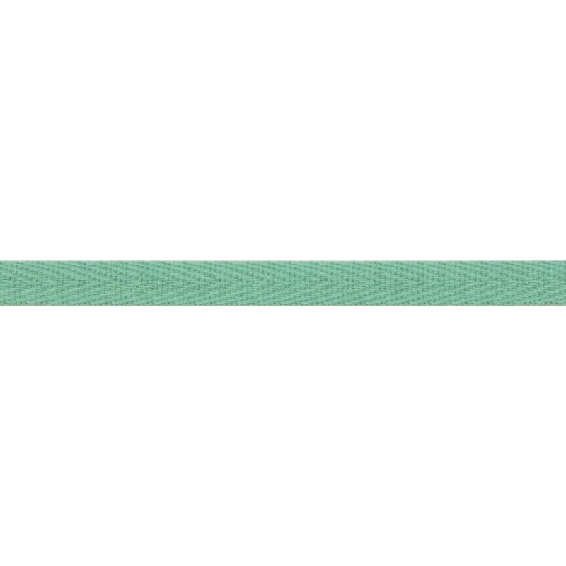 Тесьма киперная хлопок 1см 68-70м/рулон,цв:Тиффани