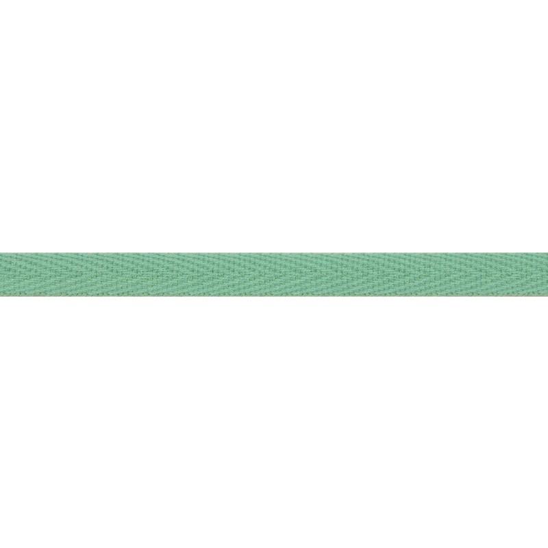 Тесьма киперная хлопок 1см 68-70м/рулон,цв:мох