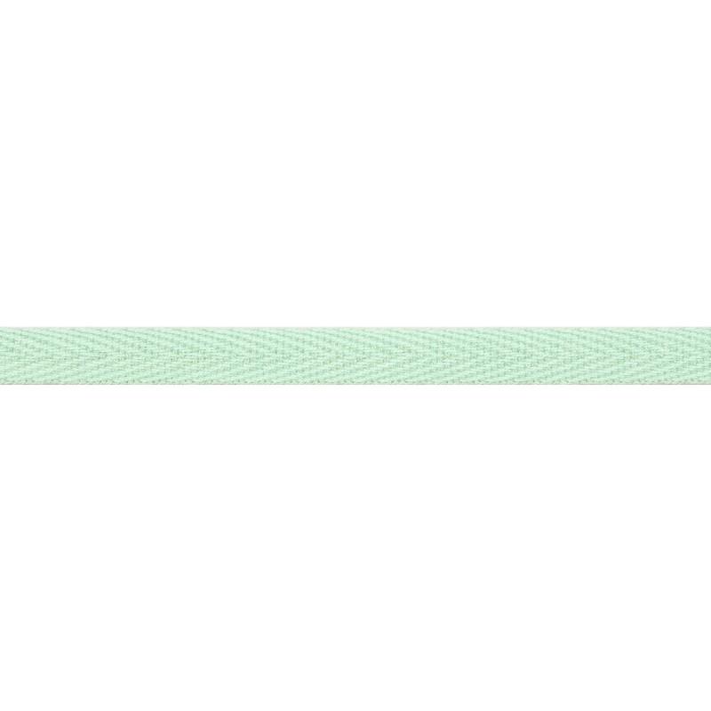 Тесьма киперная хлопок 1см 68-70м/рулон,цв:св.зеленый