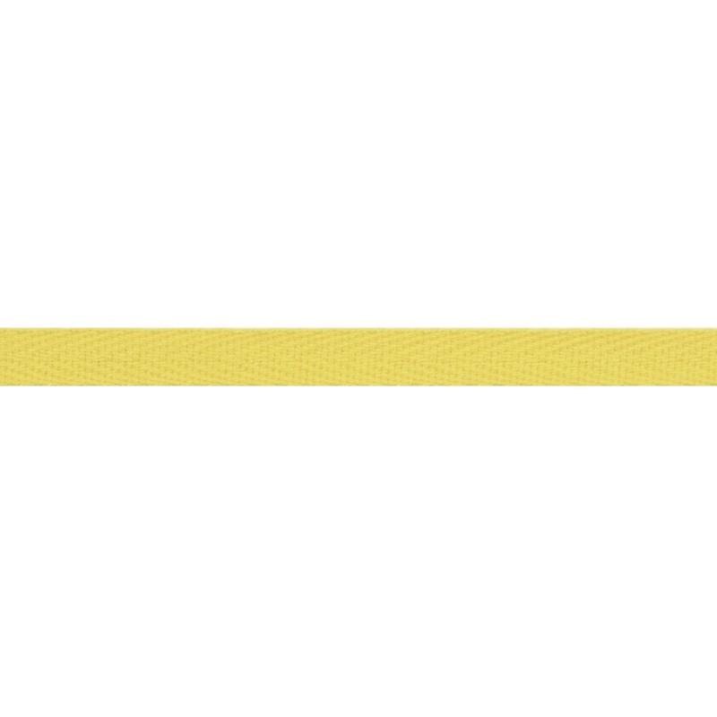 Тесьма киперная хлопок 1см 68-70м/рулон,цв:лимонный