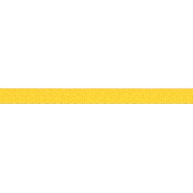 Тесьма киперная хлопок 1см 68-70м/рулон,цв:желтый