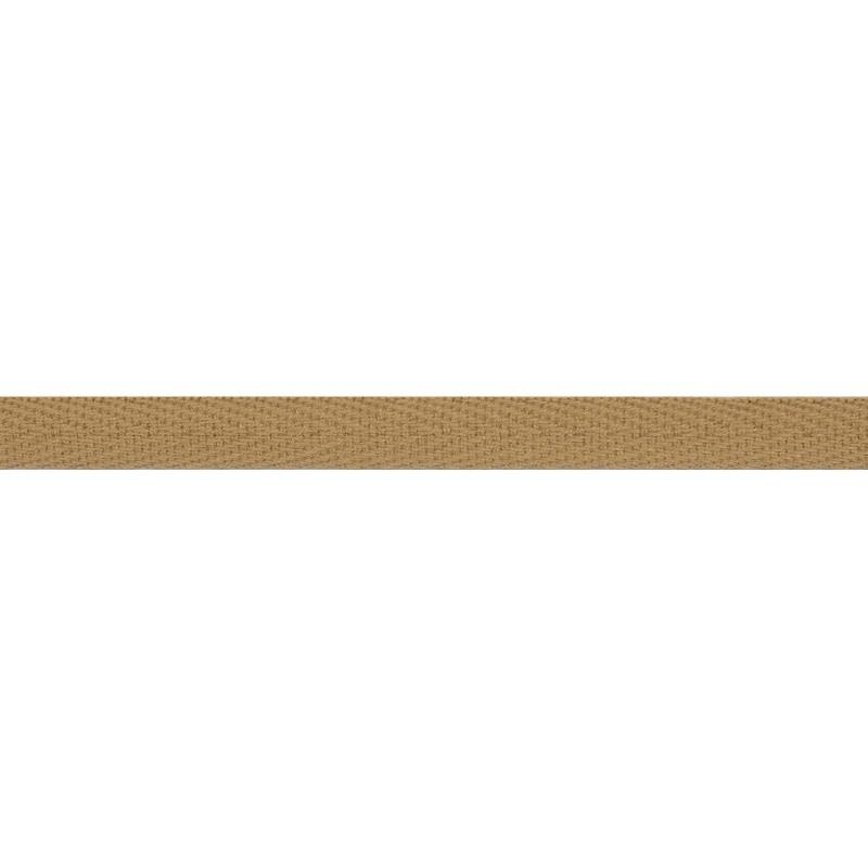 Тесьма киперная хлопок 1см 68-70м/рулон,цв:бежево-желтый