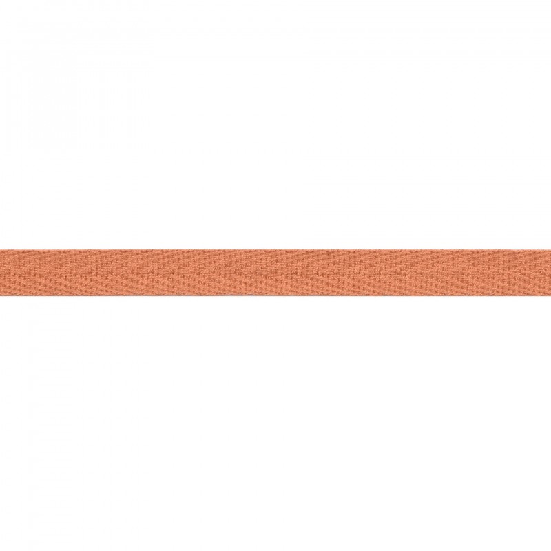 Тесьма киперная хлопок 1см 68-70м/рулон,цв:лосось