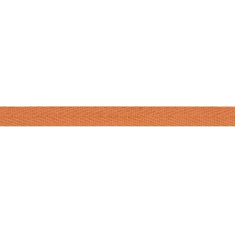 Тесьма киперная хлопок 1см 68-70м/рулон,цв:св.оранжевый